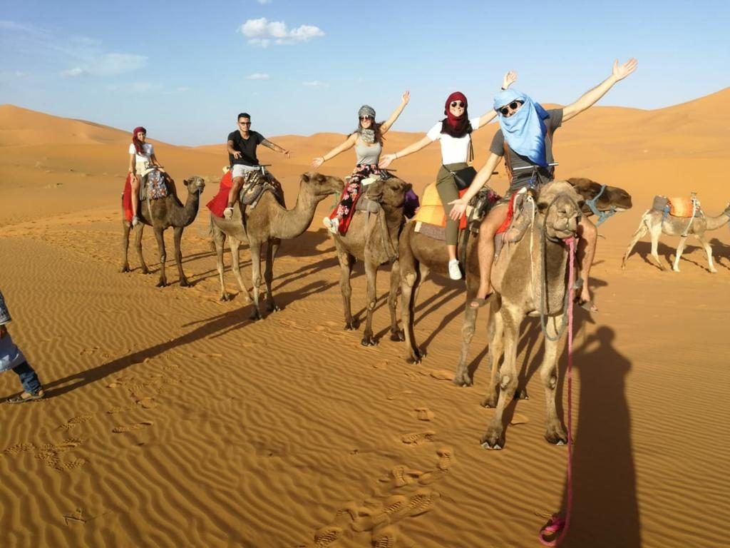 Camel trekking in Erg Chebbi