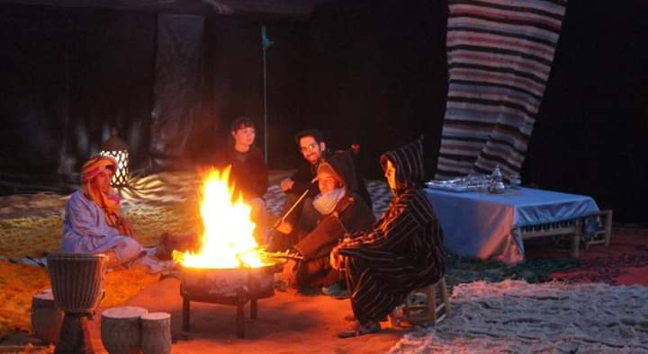 Fire in Merzouga Desert Camp