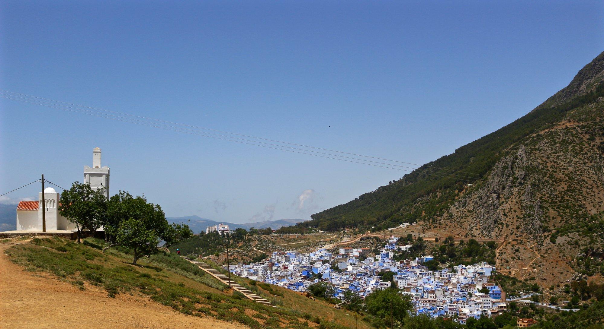 spanish mosque blue city