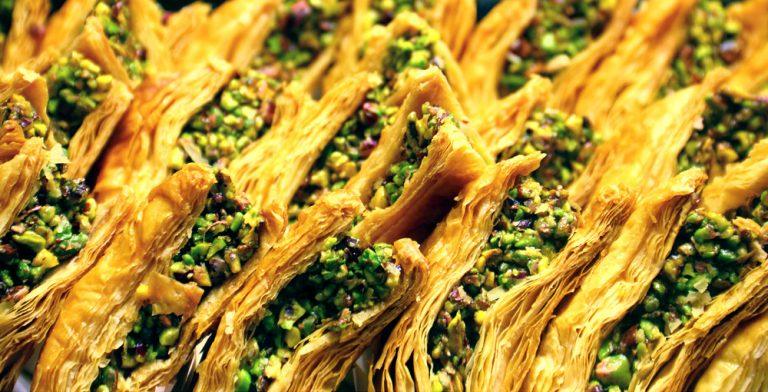 baklava. Moroccan dessert