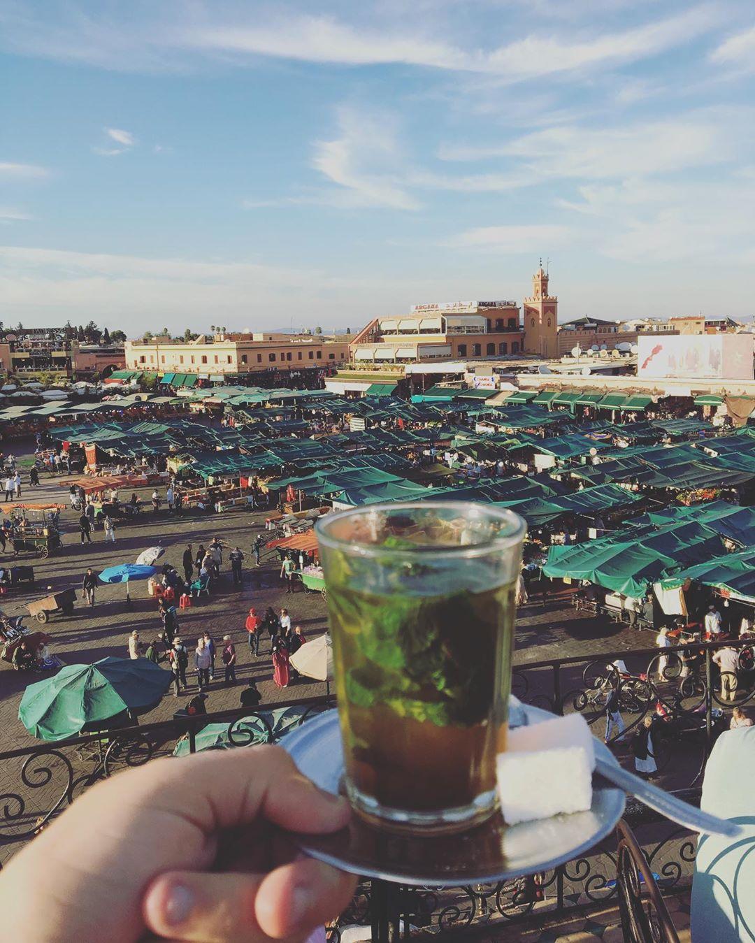 Jma el Fna tea