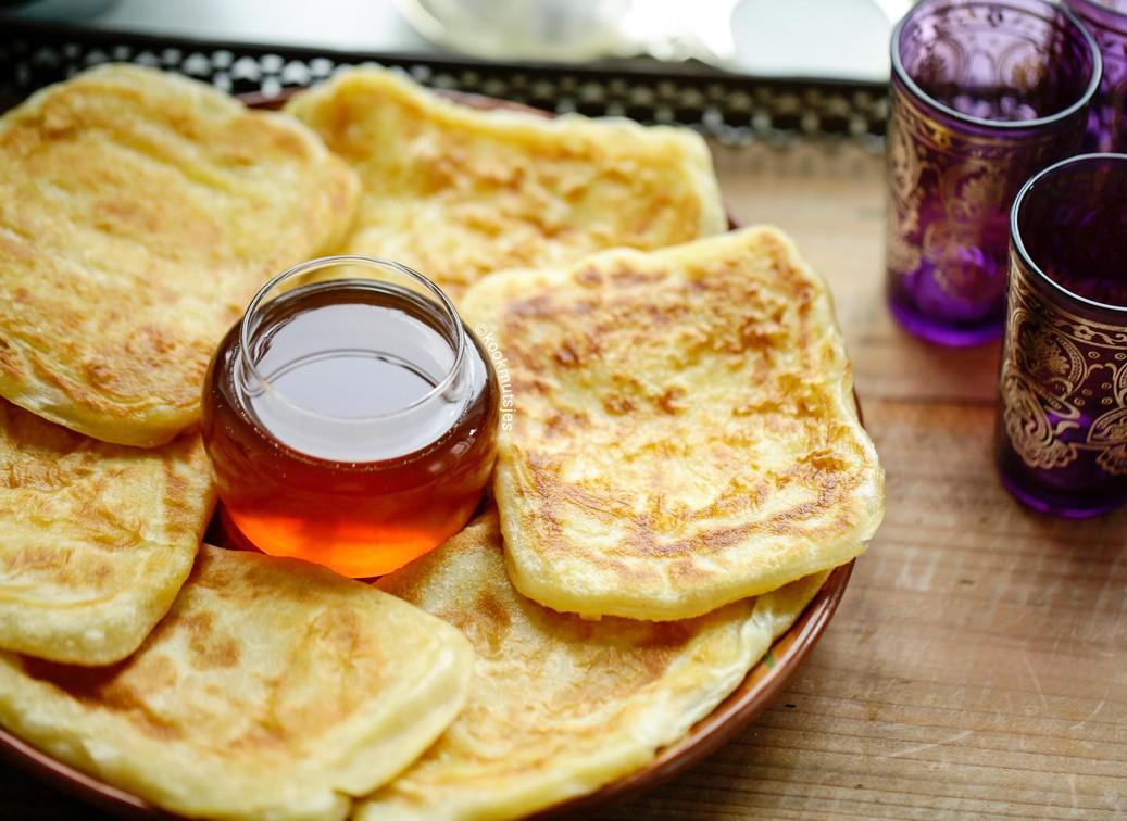 msemen bread in morocco