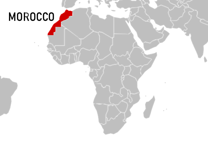 Where is Morocco located in Africa