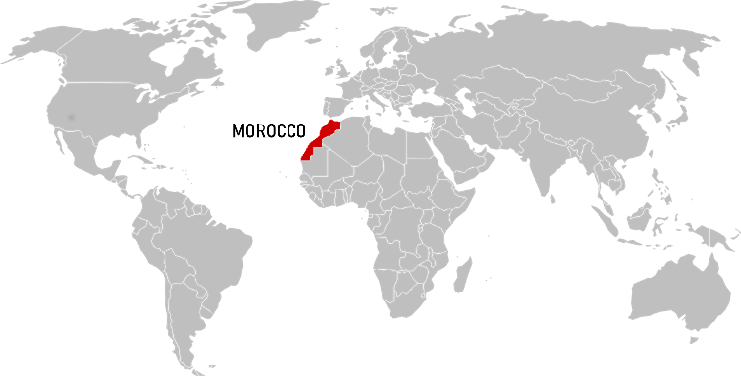 where is Morocco in the World map